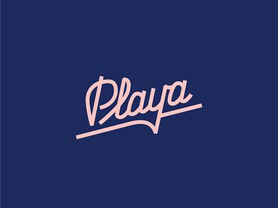 Playa custom type tacos typography