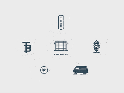 Town Submarks brand development monogram nc hops van town brewery
