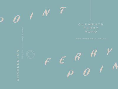 Ferrypoint typography type identity logo