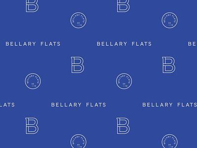 Bellary Flats typography design mark illustration brand development identity logo pattern branding