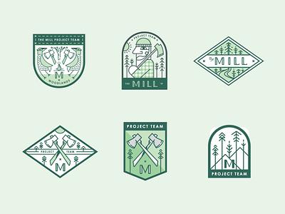 The Mill Project Patches charleston design mark illustration branding typography identity logo brand development