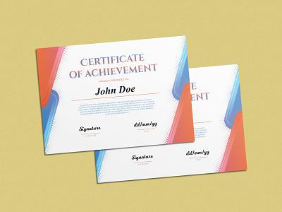 Certificate Design to Celebrate one's Hard Work and Dedication graphic design design minimal branding