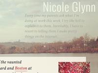 NicoleGlynn.com Redesign
