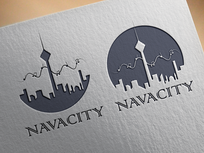 Navacity-combination-mark illustration minimal combination mark vector illustrator design logo branding