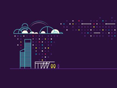 Cloud/Data Illustration illustration monoweight ooowhatsthatpurplestuff