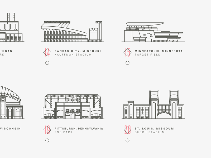 Baseball stadiums crop
