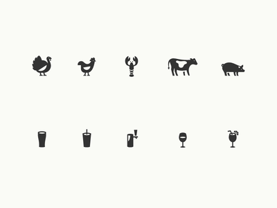 Sandwich Shop Icons beverages icon iconography
