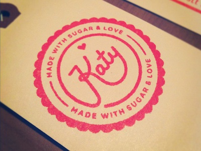 Katy's Stamp rubber stamp stamp tag crest circle