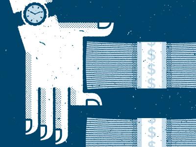 Equal Pay for Equal Work illustration texture hands grunge