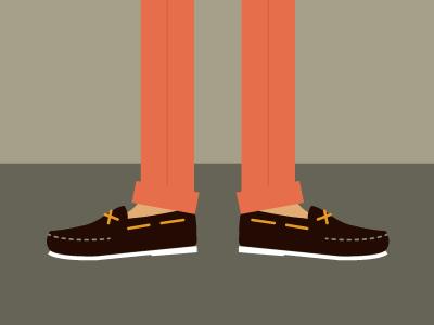 Knockin' Boats illustration sperrys pants