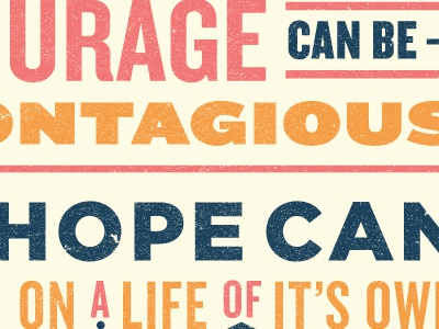 Quote Poster texture knockout quote type