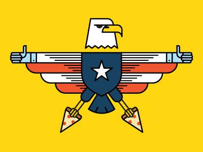Pizza Eagle america pizza freedom