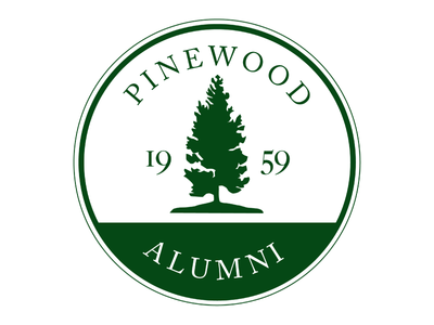 Pinewood Alumni Logo logo high school alumni pinewood badge