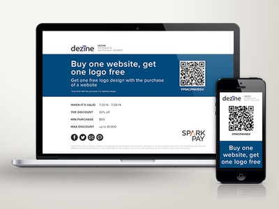 Spark Pay Offers offer offers responsive discount promo promotion spark pay qr code capital one