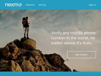 Nexmo Landing Page Concept nexmo web website landing page company