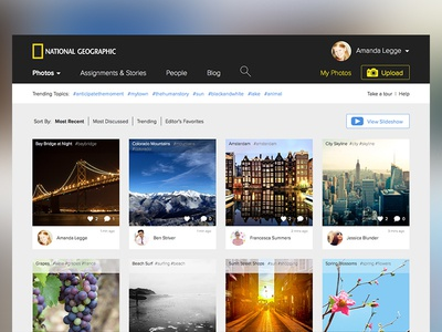 National Geographic Website Redesign web redesign images national geographic