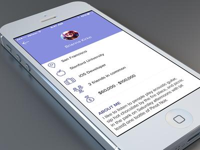 Match-making Profile Concept profile mobile tinder match-making