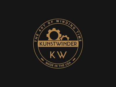 Kunstwinder Logo watch winder mechanical badge hipster watches logo kunstwinder