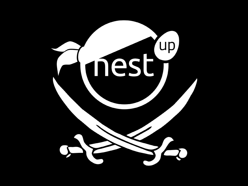 Nest'up #5 Logo  logo pirate hack black white