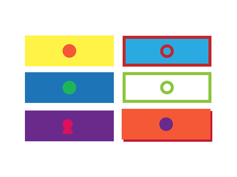 Drawers Research app colour drawer clear minimal graphic design