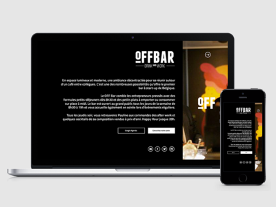 Offbar Web web mobile site black navigation offbar logo clear minimal ui ux