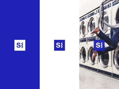 Shake.in Logo logo app startup clean simple minimal shake square image blue