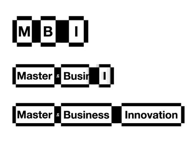 Master in Business Innovation - Bangkok logo minimal square helvetica shadow