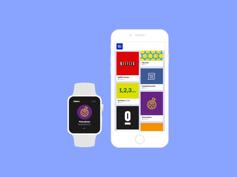 Shake.in Home white simple ux ui watch apple design app application ios