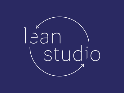 lean studio  arrow startup lean logotype logo simple design graphic