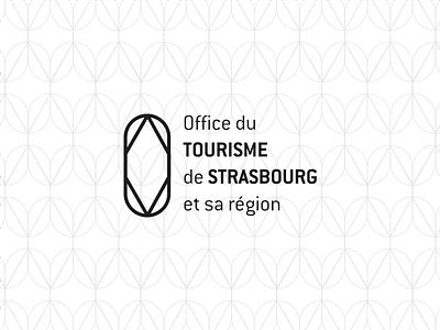 Office du tourisme - Strasbourg urban city prism clear simple mono design logo