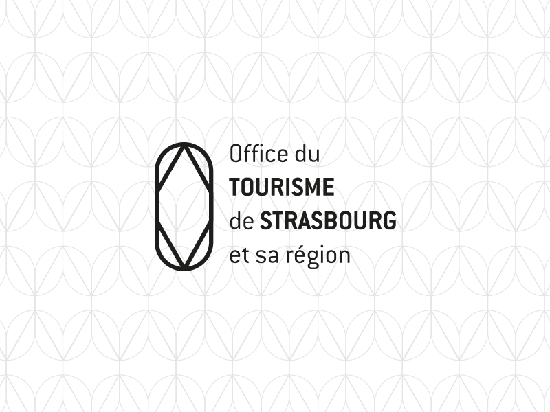 Office du tourisme - Strasbourg urban city prism clear simple mono design logo
