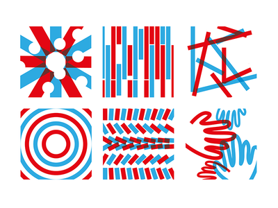 id— icon ui ux creativity red bleu pattern layer picto design graphic idcampus