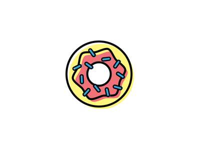 Donuts yummy colors simple ui ux illustration icon