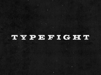 TypeFight 2.0 Wordmark typefight volta redesign excited as hell
