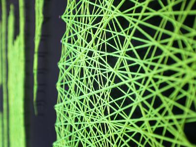 HACK String Wall string yarn neon dropbox hack hack week