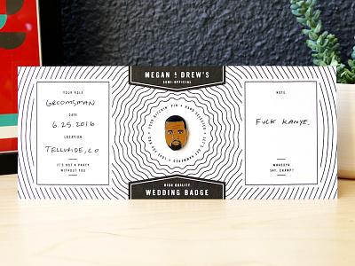 Wedding Badges enamel pin lapel pin telluride bros best man usher groomsmen fuck yeah wedding pins