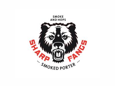 Sharp Fangs bottle porter smoked beer bear fangs sharp