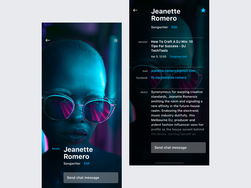 Attendee screen - Event App by Maksim Feoktistov | Dribbble | Dribbble