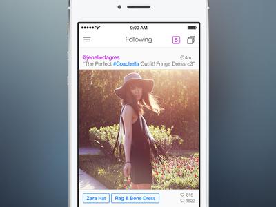 Pose 4 for iOS 7 - Stream ios7 pose ui ios fashion iphone