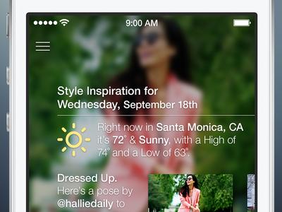 Pose 4 Dashboard ios7 pose ui ios fashion iphone