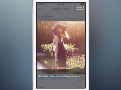 Pose 4 - Fullscreen ios7 pose ui ios fashion iphone