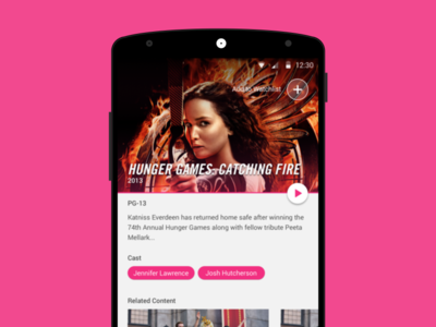 Movie Detail View: Material Design Freebie