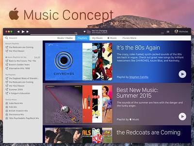 Apple Music Design Exploration ux ui concept itunes apple music mac