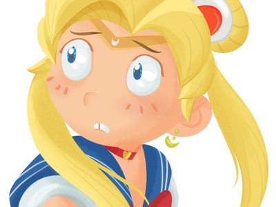 Sailor Moon - fanart anime illustration digitalpainting digitalart cartoon character cartoon characterdesign fanart sailormoon drawing