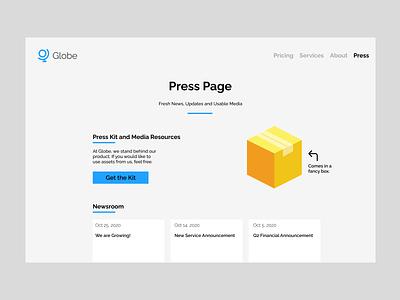 51. Press Page press page dailyui minimal design
