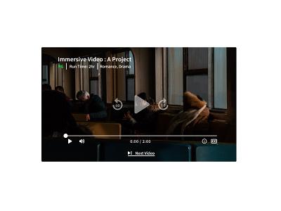 57. Video Player video player figma minimal dailyui design