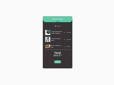 58. Shopping Cart app figma minimal dailyui design