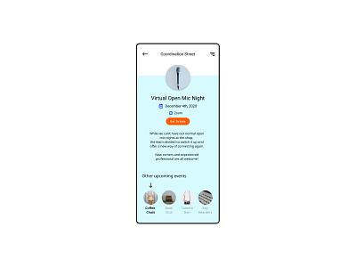 70. Event Listing figma app dailyui ui design