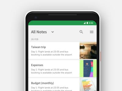 Evernote app home redo redesign landing notes app evernote