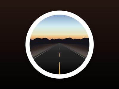 The long road long drive circle illustration landscape road
